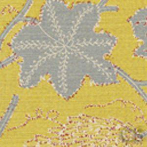 146-60 LES OISEAUX ENCHANTES Yellow Slate Quadrille Fabric