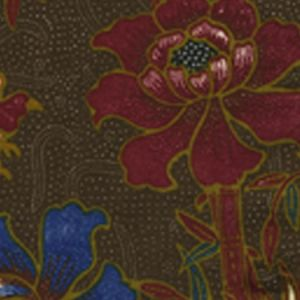 6060-05 LIM BAMBOO II Brown Multi Quadrille Fabric