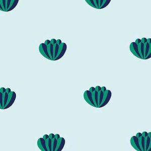 Clare V. Lotus Emerald Sky Wallpaper