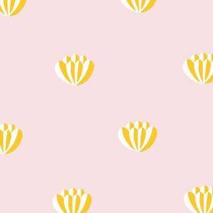 Clare V. Lotus Marigold Wallpaper
