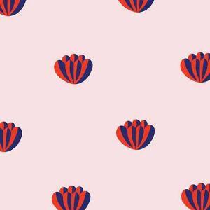 Clare V. Lotus Red Shell Wallpaper