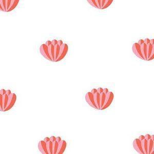 Clare V. Lotus Watermelon Wallpaper