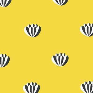 Clare V. Lotus Yellow Wallpaper
