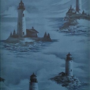LWP68572W PEMAQUID Midnight Ralph Lauren Wallpaper