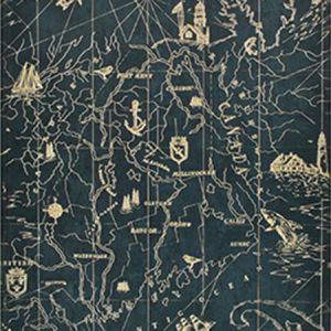LWP68590W SEARSPORT MAP Royal Ralph Lauren Wallpaper