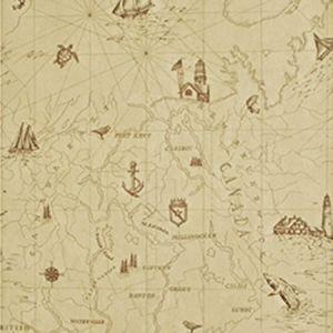 LWP68595W SEARSPORT MAP Parchment Ralph Lauren Wallpaper