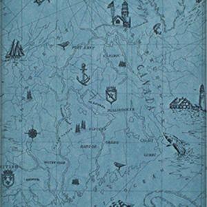 LWP68601W SEARSPORT MAP Atlantic Ralph Lauren Wallpaper