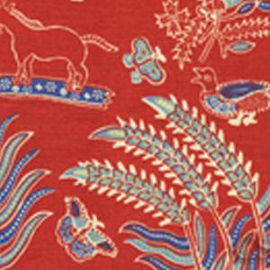 2320-03 MALAY BATIK Watermelon Blue Quadrille Fabric
