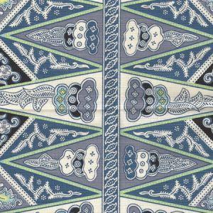 3060-01 MALAY STRIPE Navy Quadrille Fabric