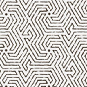 2510-11WP MAZE Black Quadrille Wallpaper