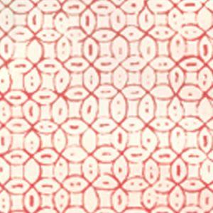 6450-09WP MELONG BATIK Salmon On Off White Quadrille Wallpaper