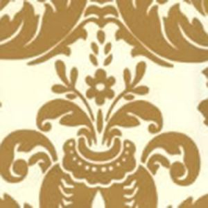 302166W-M MONTY Gold Metallic On Off White Quadrille Wallpaper