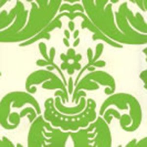 302194W MONTY Jungle Green On Off White Quadrille Wallpaper