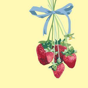 Nathan Turner Strawberry is My Jam Yellow Wallpaper