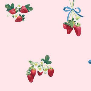 Nathan Turner Strawberry is My Jam Pink Wallpaper