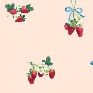 Nathan Turner Strawberry is My Jam Peach Wallpaper