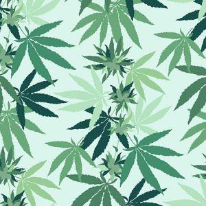 Nathan Turner Cannabis Robin's Egg Wallpaper