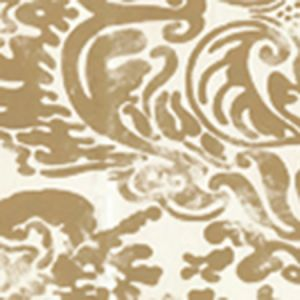 2330-24WP SAN MARCO Gold On Off White Quadrille Wallpaper