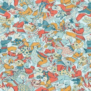 16612-002 DRAGON DANCE Multi Scalamandre Fabric