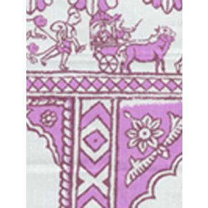 6250-03 SULTAN II Lilac on White Quadrille Fabric