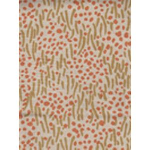 3030-05 TRILBY Camel II Shrimp Dots on Tan Quadrille Fabric