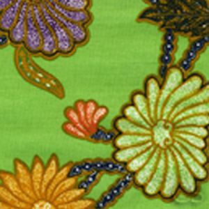 2310-03 TURTLE BATIK Turtle Green Multi Quadrille Fabric