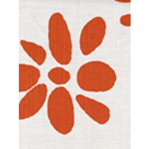 6380-04 WILDFLOWERS II Orange on White Quadrille Fabric