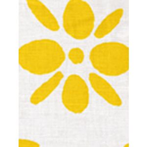 6380-07 WILDFLOWERS II Sunflower on White Quadrille Fabric