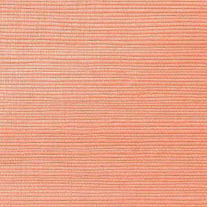 WNM 0033META METALLICA GRASSCLOTH Cayenne Scalamandre Wallpaper