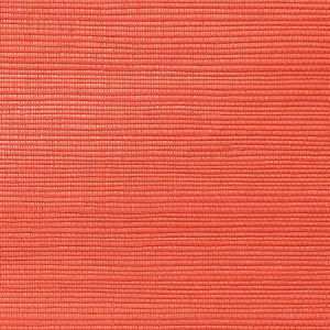 WNM 0035META METALLICA GRASSCLOTH Tomato Scalamandre Wallpaper
