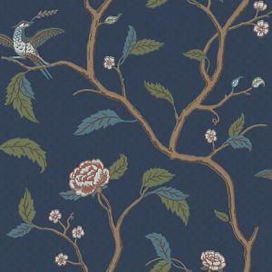 WSB 00860401 MARIANNE Blue Brown Sandberg Wallpaper