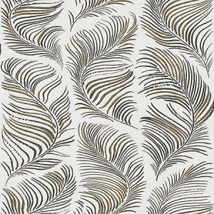 WSB 00910497 GRACE White Black Gold Sandberg Wallpaper