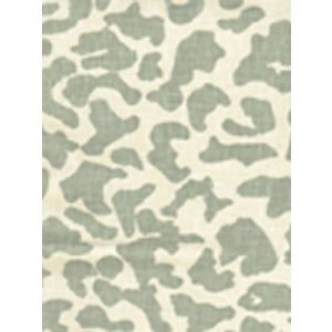 6085-13 ZEZE LEOPARD French Green on Tint Quadrille Fabric