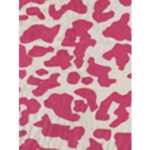 6085-01 ZEZE LEOPARD Magenta on Ecru Quadrille Fabric