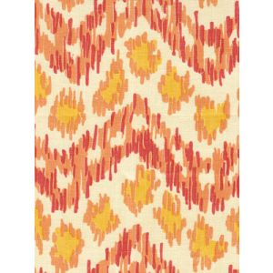 7320H-06T ZIZI HORIZONTAL Terracotta Orange Yellow Quadrille Fabric