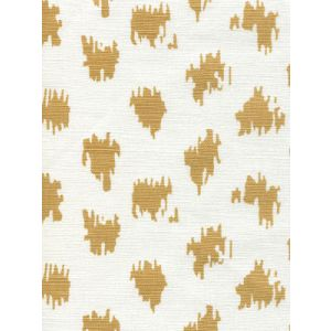 7340-04 ZIZI SPOT Camel on White Quadrille Fabric