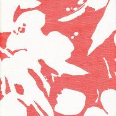 020075FW TULIP BACKGROUND Orange on White Quadrille Fabric