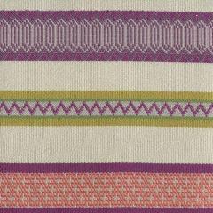 020200T BANDWIDTH Purple Shrimp Mustard Quadrille Fabric