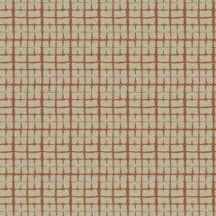 MACRAME CHECK Paprika Fabricut Fabric