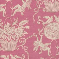 1423-02 CHERUBINS TOILE Rose Quadrille Fabric