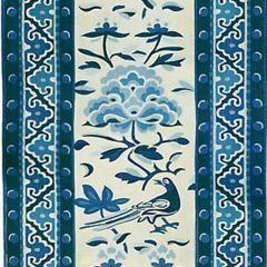 16613-003 ROYAL PEONY LINEN PRINT Porcelain Scalamandre Fabric