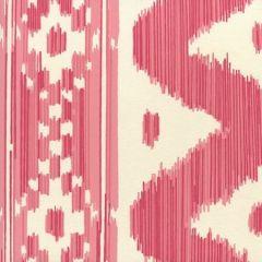 2020-06OWP BALI HAI Reds On Off White Quadrille Wallpaper