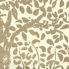 2030-10MWP ARBRE DE MATISSE Gold Metallic On Off White Quadrille Wallpaper