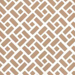 2220-04WP EDO Camel Ii On Almost White Quadrille Wallpaper