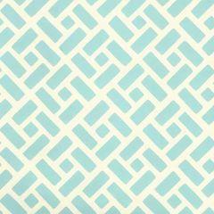 2220-17WP EDO Turquoise On Off White Quadrille Wallpaper