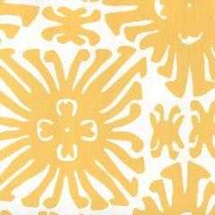 2475WP-03 SIGOURNEY SMALL SCALE Yellow On White Quadrille Wallpaper