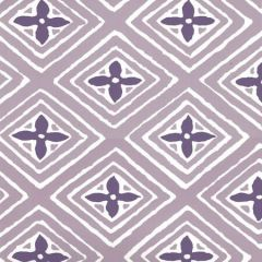 2500WP-16AWP FIORENTINA TWO COLOR Lavender Purple On Almost White Quadrille Wallpaper