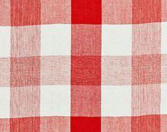 27135-004 WESTPORT LINEN PLAID Coral Scalamandre Fabric