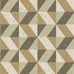 2896-25315 Cerium Concrete Geometric Gold Brewster Wallpaper
