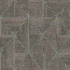 2896-25322 Cheverny Wood Tile Brown Brewster Wallpaper